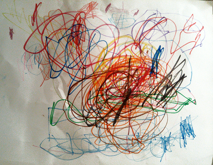 Scribbles by Bea, age 3